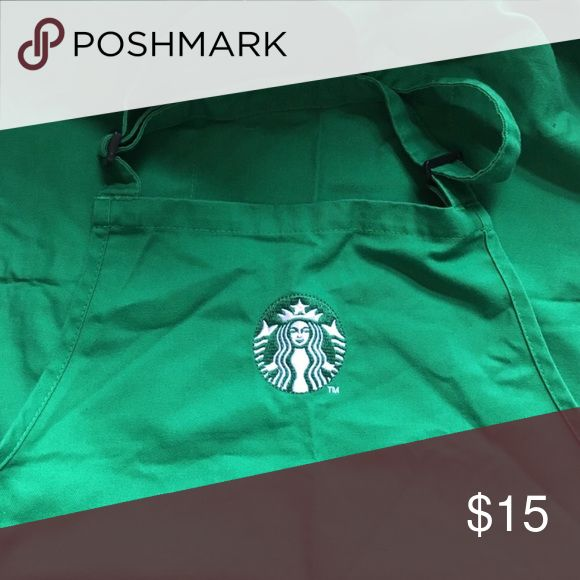 Starbucks apron Good condition, green Starbucks apron Other