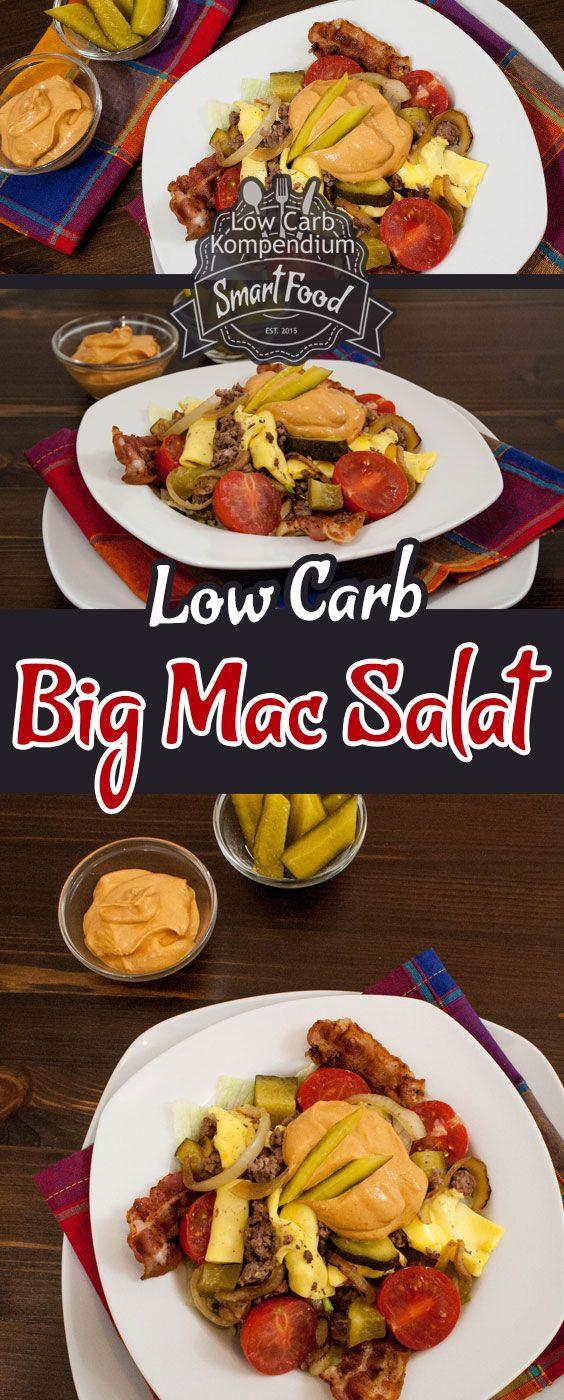 Big Mac Salat Low-Carb - Ein Rezept mit selbstgemachter Big Mac Soße. Gesund und so sensationell lecker, den musst Du unbedingt probieren :) (Diet Recipes Drinks)
