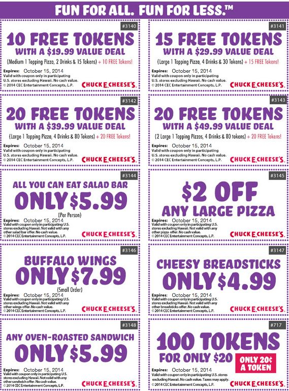 61 Best Images About Chuck E Cheese Printable Coupons For