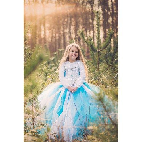 Special designet håndlavet Elsa tylkjole