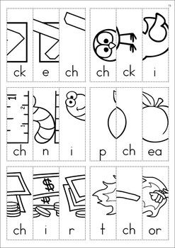 """ch"" Digraph Games-Activities-Worksheets. Picture Scramble cut & paste booklet. Kids have to order the letters correctly to make up each word and unscramble the picture. A FUN way to do some word work!"