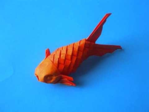 ▶ Origami scaled fish - YouTube