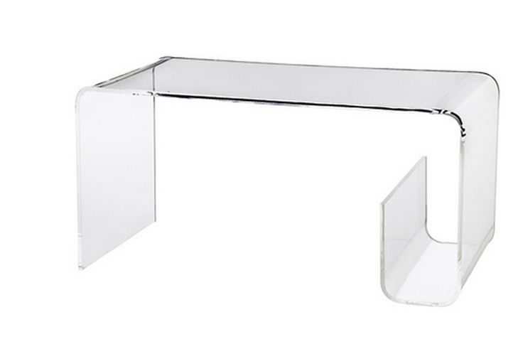 Woonkamer Van Muji : Furniture finds muji acrylic table with magazine rack detail
