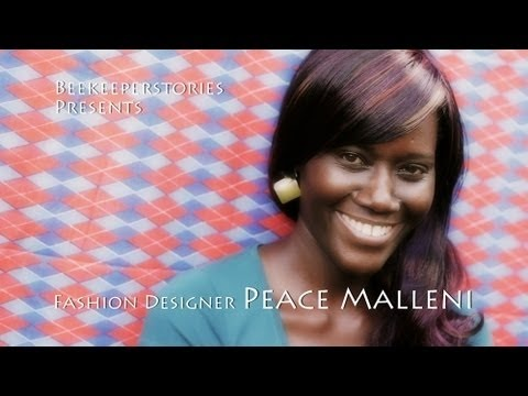 Music: Breezeless - Spinning around. Ceative Commons.  Beekeeperstories presents - Fashion designer Peace Malleni.    Peace Malleni kindly provided this info:    Peace Malleni is the Owner and Designer of Malleni Designs. She is Ugandan, born in Kampala. From a young age she has loved clothes, shoes and accessories. She is not a formally trained desi...