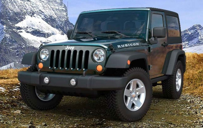 Black Forest Green Rubicon Blacked out jeep wrangler