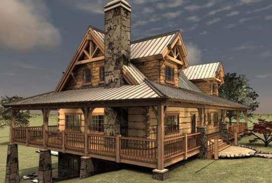 The Pipestone Floor Plan @ Avalon Log Homes