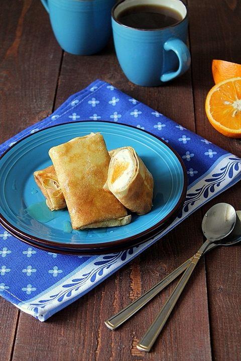 Апельсиновые блинчики с творогом - пошаговый рецепт с фото - как приготовить - ингредиенты, состав, время приготовления - Леди Mail.Ru