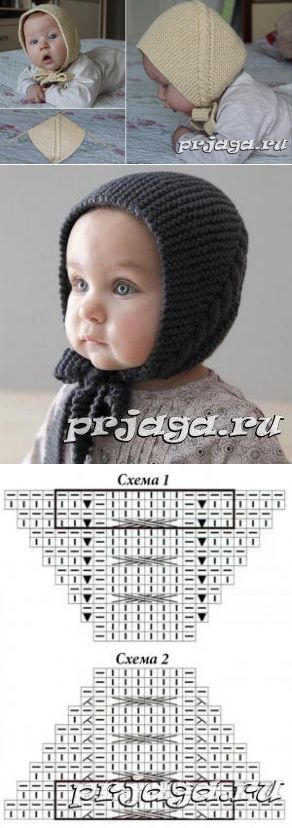 Baby knit bonnet hat pattern