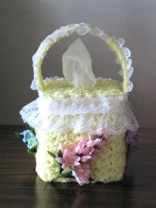 Free Crochet Flower Basket Pattern : 29 best images about Crochet Tissue Covers on Pinterest ...