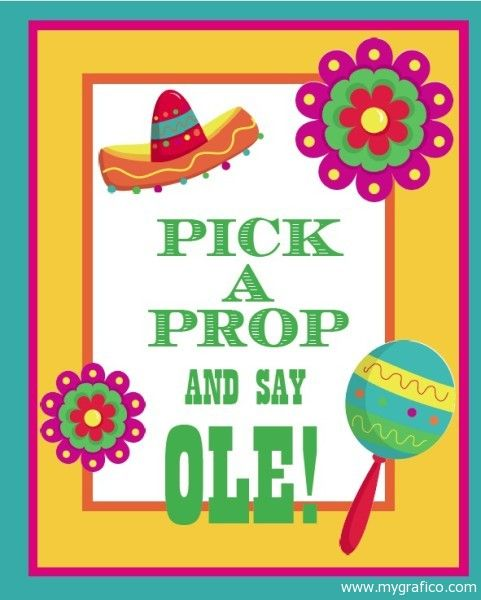 Print out your {free} Cinco de Mayo photo prop sign for a fun way to celebrate!