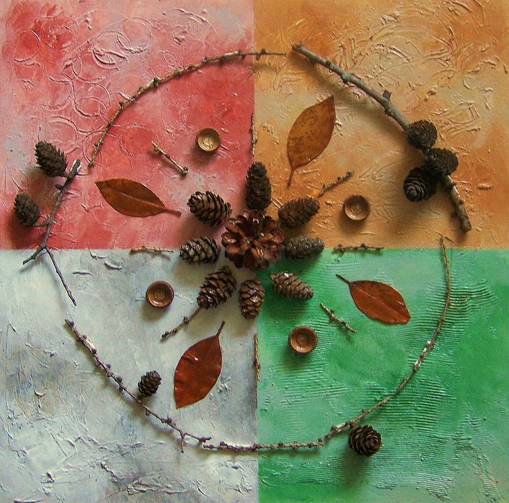 Mandala nature, collage