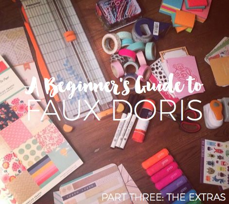 By now, you should be all caught up on the basics of faux doris: the cover and the inserts . In my previous posts, I talked about wha...
