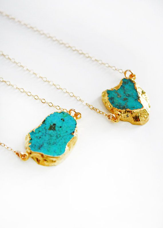 raw turquoise. Cannot get enough! Totally obsessed.