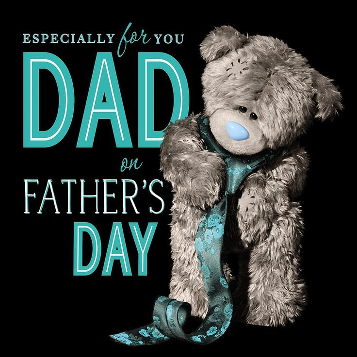 3D Holographic Dad Me to You Bear Father Day Card £2.99