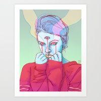 Third Eye Tears Art Print