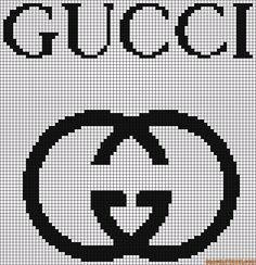 marque - make - gucci -  point de croix - cross stitch - Blog : http://broderiemimie44.canalblog.com/