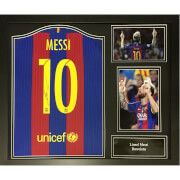 #All Star Signings Lionel Messi Signed and Framed Barcelona Shirt #Here is a superbly displayed signed Messi shirt from the 2016/17 season. This item comes complete with a certificate of authenticity with photograph inserted showing Messi signing the shirt and is superbly framed and ready to hang.