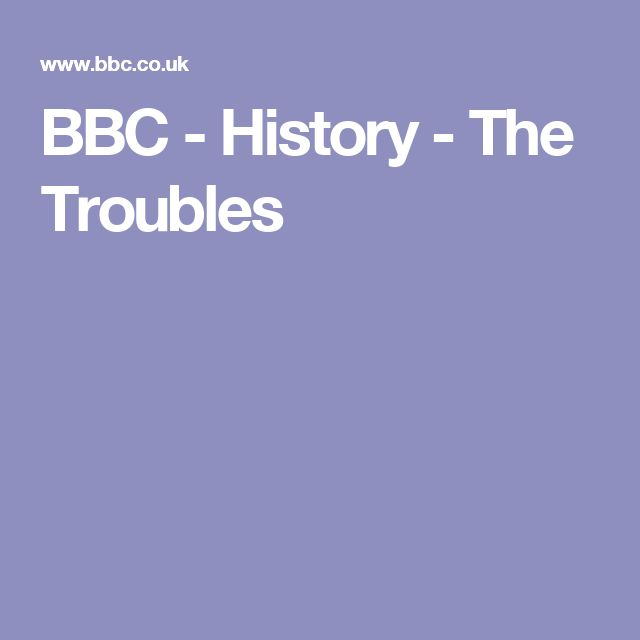 BBC - History - The Troubles