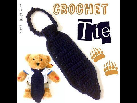 Crochet tie - كروشية كرفته للمبتدئين - YouTube