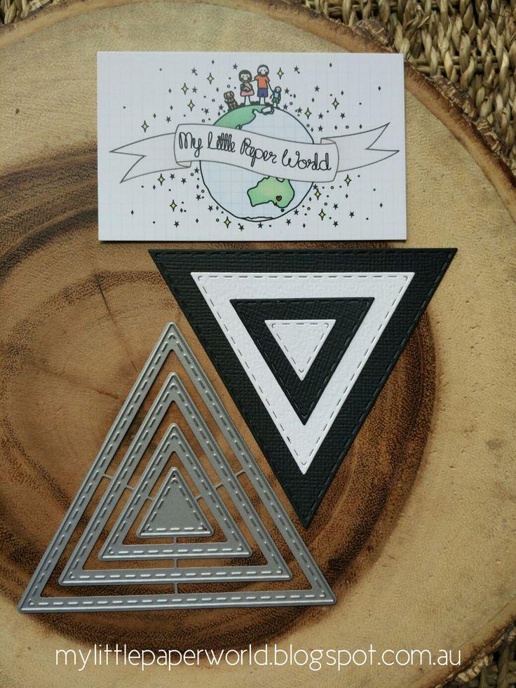 Картинки по запросу My Little Paper World - Stitched Triangles