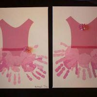 Angelina Ballerina (Handprint Crafts for Kids} What a cool idea for a birthday party activity for your little princess!