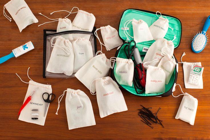 DIY Wedding Day Emergency Kits via Brit + Co.