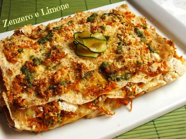 Le lasagne carasau alle verdure sono un piatto molto particolare, leggero ed appetitoso. Inoltre sono facilissime e velocissime da preparare.