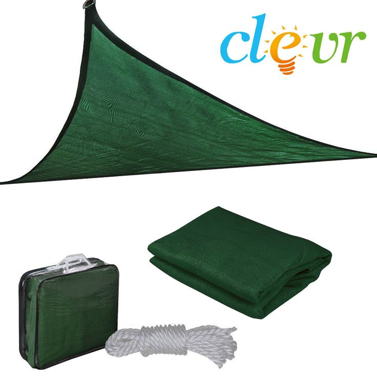 New Premium Clevr Sun Shade Canopy Sail 16.5 Triangle UV Top Outdoor Patio Green from Crosslinks