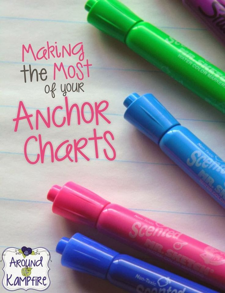 Great tips and creative ideas for making the most of your anchor charts!