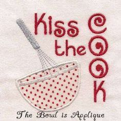 Free Embroidery Design: Kiss The Cook