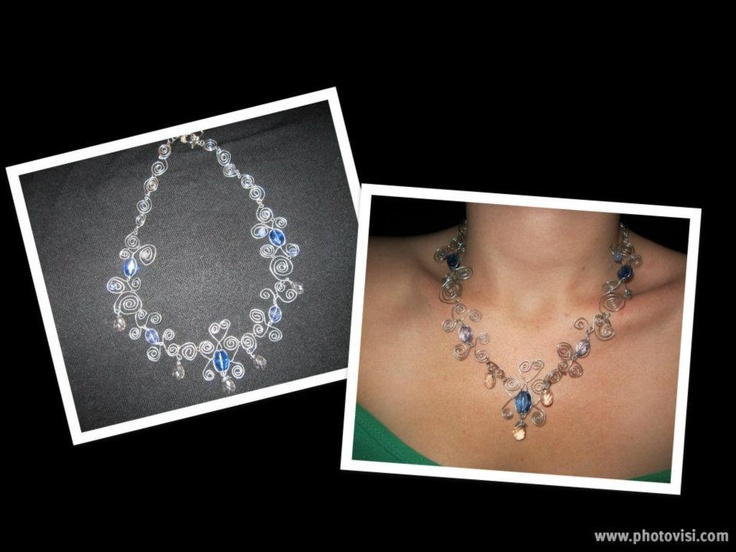 Silver with blue beads...  To purchase check out my facebook page: http://www.facebook.com/twocutechicks?ref=hl
