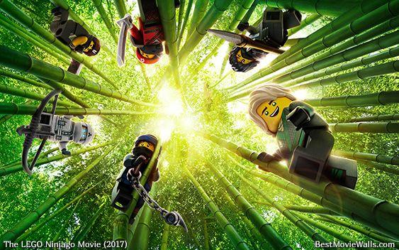 Car In Forrest Hd Wallpaper Lego Ninjago Movie Wallpaper With All Ninjas