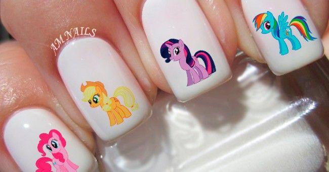 [TOPITRUC] Des stickers pour ongles Mon Petit Poney pour les fans du dessin animé