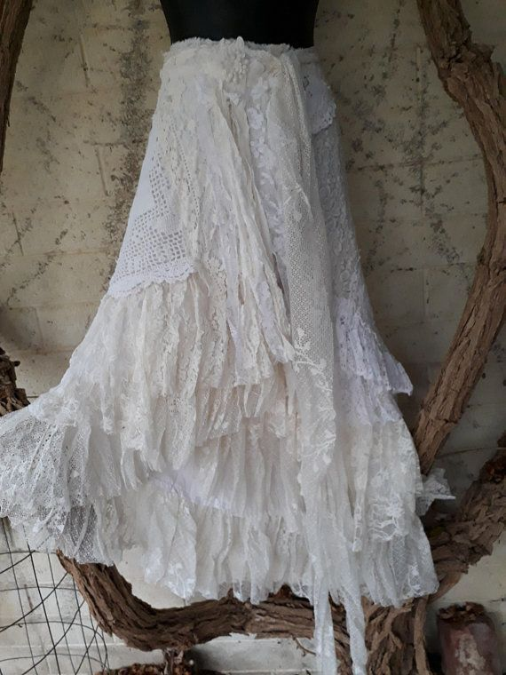 bohemian shabby Chic wedding Vintage to New shawl Reenactment