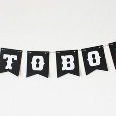 Guirlande photobooth -10 fanions noirs en v-décoration mariage -vintage