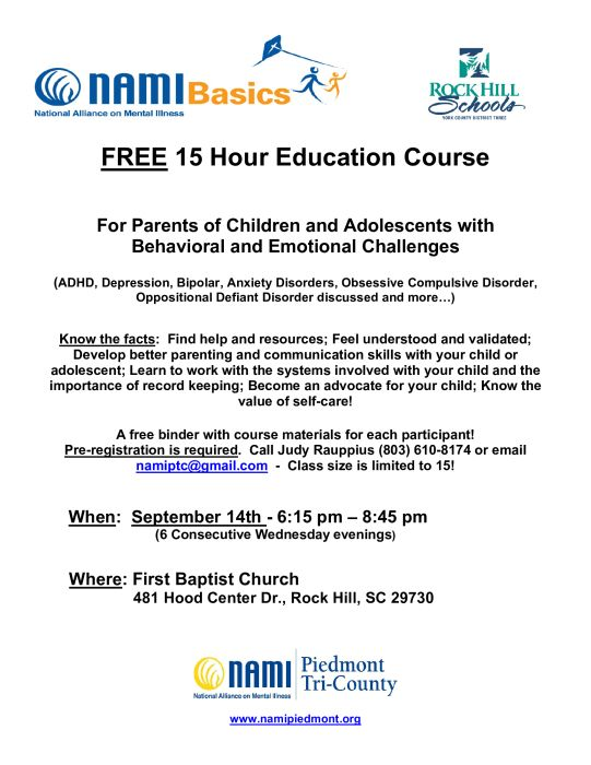 NAMI Parent Education Course : Other Not Listed – school – India Hook Elementary