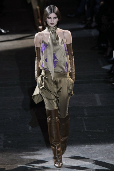 Givenchy- The pants are great with those boots.