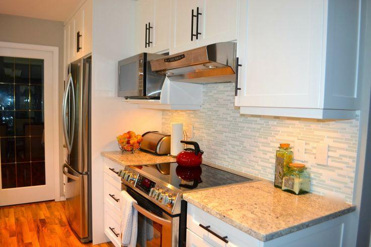 80's kitchen reno after...fresh white . www.remarkableredesignstaging.com www.roomcandy101.blogspot.com