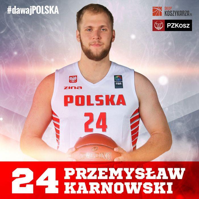 Przemysław Karnowski (#24) - środkowy  Reprezentant Polski w Koszykówce