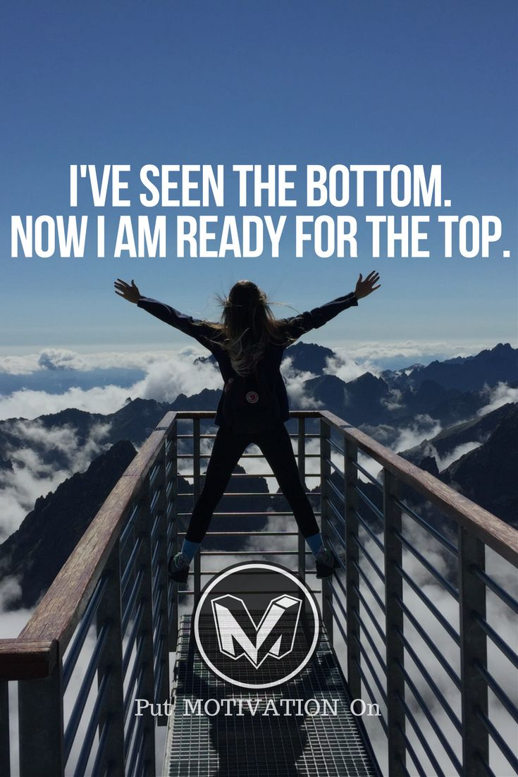I'm ready for the top right now. Life is beautiful .. remember that if you are having a bad day