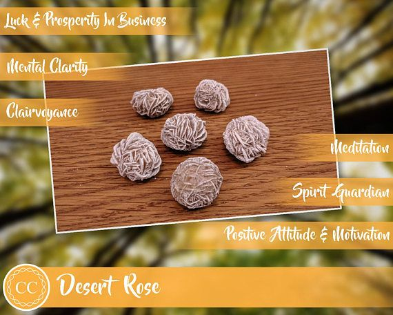 Desert Rose - every one of these Selenite crystals is said to have it's own individual spirit guardian and so makes it a powerful stone for meditation and clairvoyance. It provides luck and prosperity in business, and encourages mental clarity and a positive attitude.
