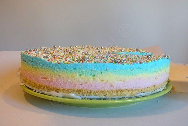 Regenboog kwarktaart – (simpel) recept | Janske.nl | Bloglovin'