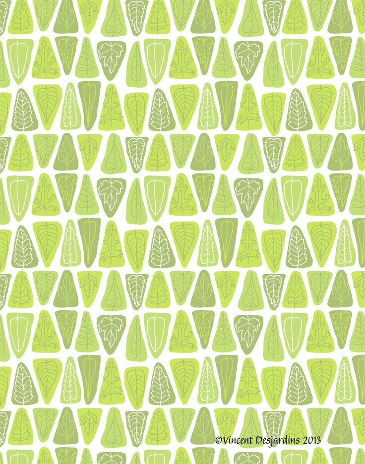 My midcentury modern inspired leaf pattern is now