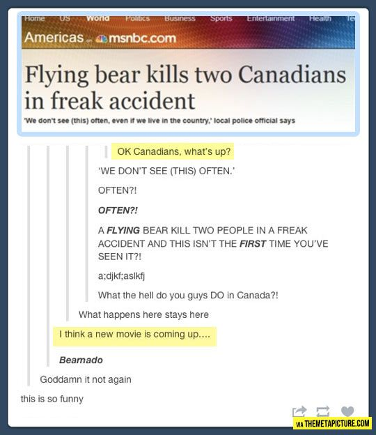 Oh, Canada.