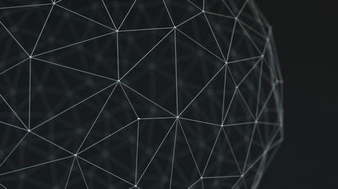 Download 1920x1080 HD Wallpaper line figure polygon black and white, Desktop Backgrounds HD