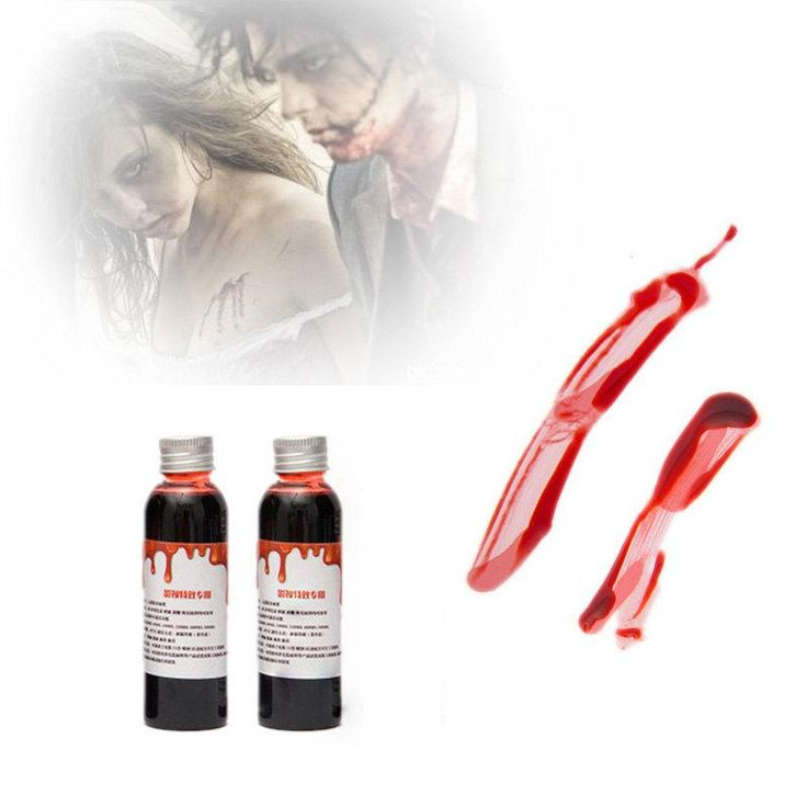 1PC 60ml Halloween Costume Party Artificial Edible Fake Blood plasma The Film And Television Props Makeup Cosplay Makeup 35