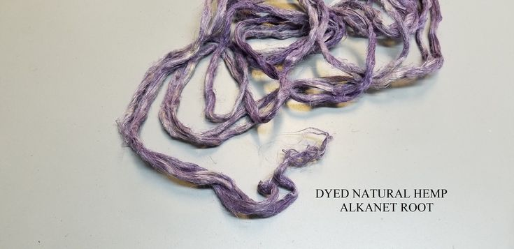 DYED Hemp Natural Fiber Alkanet Root. 1 oz Purple Dyed Sliver Natural Top Roving. Great for Spinning, Knitting, Weaving, Felting   – Dyeing Fibers and Yarns