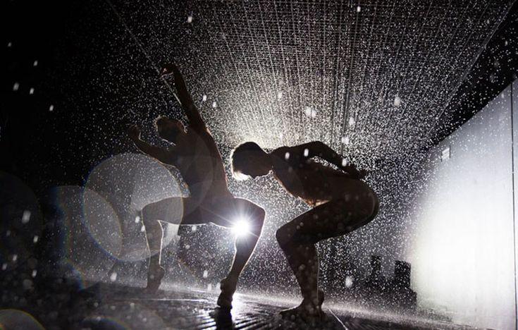 dancers from wayne mcgregor & random dance perform in union with the conrad shawcross installation 'timepiece'