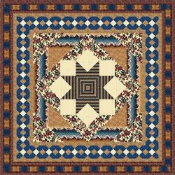 """RJR Gateway Quilts Merchant's Star Quilt Kit 92"""""""