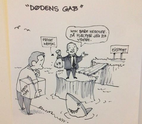"""Drawing from """"Vandteknologiens Døgn""""."""